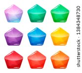 colorful pentagon glossy...