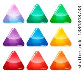 colorful triangle glossy...