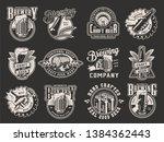 monochrome beer prints... | Shutterstock .eps vector #1384362443