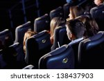 group of people watching movie... | Shutterstock . vector #138437903