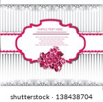 wedding invitation with flowers | Shutterstock .eps vector #138438704