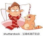 vector illustration of a cute...   Shutterstock .eps vector #1384387310