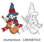 vector illustration of a cute...   Shutterstock .eps vector #1384387313