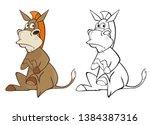 vector illustration of a cute...   Shutterstock .eps vector #1384387316