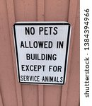 no pets allowed in building... | Shutterstock . vector #1384394966