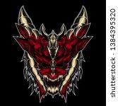 devil design for t shirt  tatto ... | Shutterstock . vector #1384395320