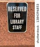 sign near parking lot that... | Shutterstock . vector #1384396853