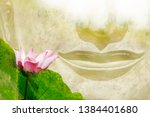 the mouth of the buddha and... | Shutterstock . vector #1384401680