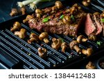 close up view of a strip loin...   Shutterstock . vector #1384412483