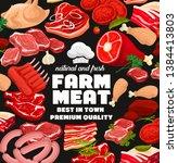 farm butcher shop poster of...   Shutterstock .eps vector #1384413803
