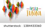 happy festa junina greeting... | Shutterstock .eps vector #1384433360