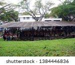 a bird singing contest event in ...   Shutterstock . vector #1384446836