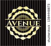 avenue golden badge or emblem....   Shutterstock .eps vector #1384448873