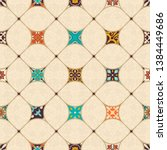 seamless colorful patchwork... | Shutterstock .eps vector #1384449686