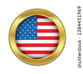 simple round usa golden badge...