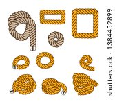 nautical rope. round and square ... | Shutterstock .eps vector #1384452899