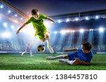 little soccer champions. mixed...   Shutterstock . vector #1384457810