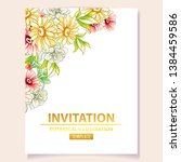 invitation greeting card with... | Shutterstock .eps vector #1384459586
