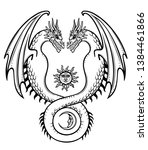 mystical drawing  a double... | Shutterstock .eps vector #1384461866