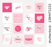set of happy mothers day... | Shutterstock .eps vector #1384471223