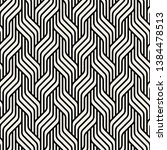 seamless pattern with geometric ... | Shutterstock .eps vector #1384478513