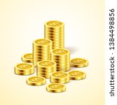 a stack of gold coins. money...   Shutterstock .eps vector #1384498856
