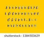 isometric capital letters ... | Shutterstock .eps vector #1384503629