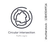 circular intersection outline...   Shutterstock .eps vector #1384504916
