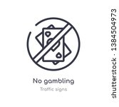 no gambling outline icon.... | Shutterstock .eps vector #1384504973