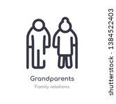 grandparents outline icon.... | Shutterstock .eps vector #1384522403