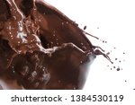 splash of chocolate isolated on ... | Shutterstock . vector #1384530119
