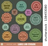 labels and stickers set 3   Shutterstock .eps vector #138453080