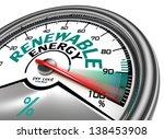 renewable energy conceptual... | Shutterstock . vector #138453908