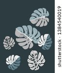 vector tropical pattern with... | Shutterstock .eps vector #1384540019