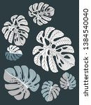 vector tropical pattern with... | Shutterstock .eps vector #1384540040
