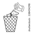cartoon hand business concept | Shutterstock . vector #138454298
