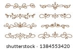 set of swirly decorative... | Shutterstock .eps vector #1384553420