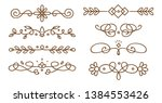 set of swirly decorative... | Shutterstock .eps vector #1384553426