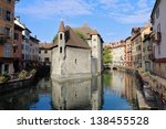 the picturesque medieval... | Shutterstock . vector #138455528