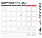 calendar planner for september... | Shutterstock .eps vector #1384558880
