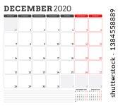 calendar planner for december... | Shutterstock .eps vector #1384558889