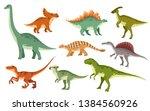 Cartoon Dinosaur Set. Cute...