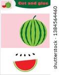 watermelon in cartoon style ...   Shutterstock .eps vector #1384564460