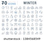 set of vector line icons of... | Shutterstock .eps vector #1384568549