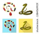vector design of mammal and... | Shutterstock .eps vector #1384569929
