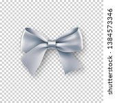 fashionable silver bow with... | Shutterstock .eps vector #1384573346
