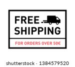 free shipping. for orders over... | Shutterstock .eps vector #1384579520