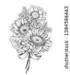 floral composition. bouquet... | Shutterstock .eps vector #1384586663