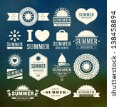 retro summer design elements.... | Shutterstock .eps vector #138458894