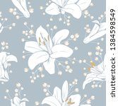 seamless pattern with flowers....   Shutterstock .eps vector #1384598549